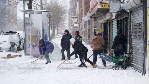 Снегопад в США - Sputnik Беларусь