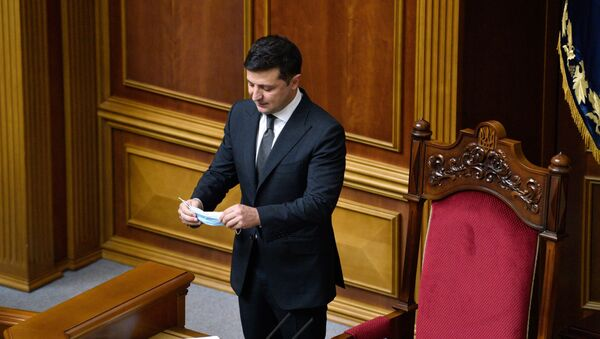 Президент Украины Владимир Зеленский на заседании в Верховной Раде - Sputnik Беларусь