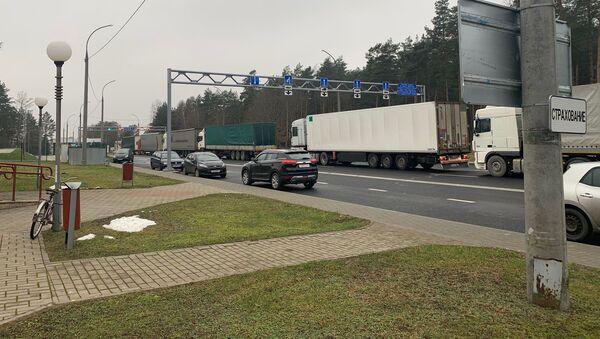 Легковых автомашин в очереди на выезд из Беларуси не наблюдается - Sputnik Беларусь