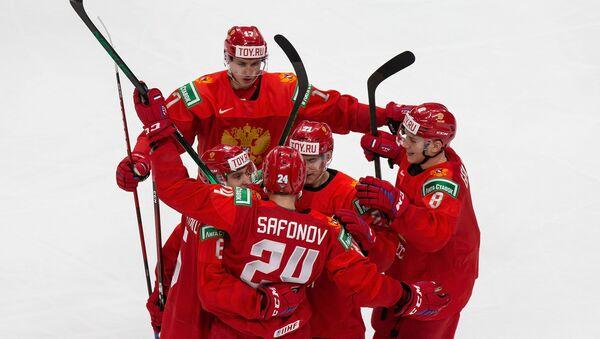 Хоккеисты молодежной сборной России - Sputnik Беларусь
