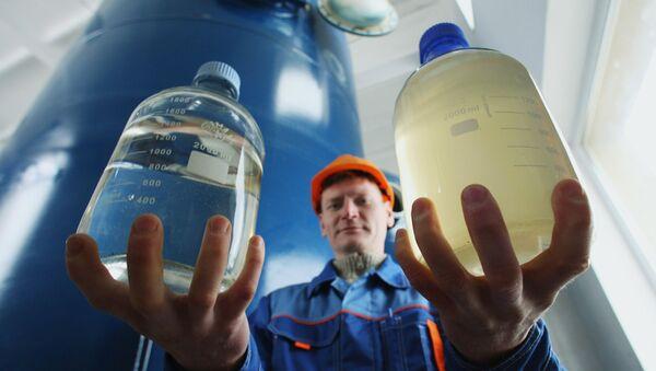 Открытие станции обезжелезивания воды  - Sputnik Беларусь