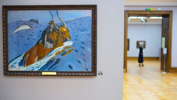 Картина В.А. Серова Похищение Европы  в одном из залов Государственной Третьяковской галереи - Sputnik Беларусь