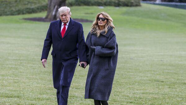 Президент США Дональд Трамп и его супруга - Sputnik Беларусь