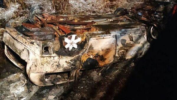 Автомобиль упал с моста и загорелся в Докшицком районе - Sputnik Беларусь