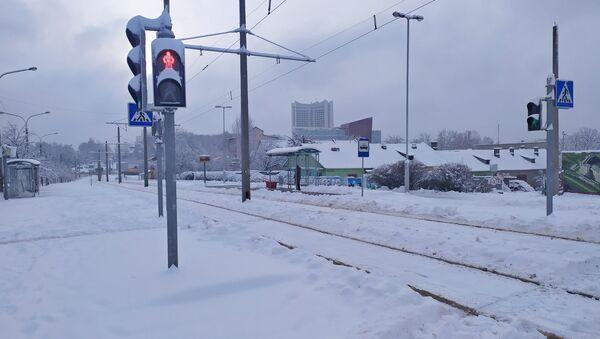 Наступствы моцнага снегападу ў Мінску - Sputnik Беларусь