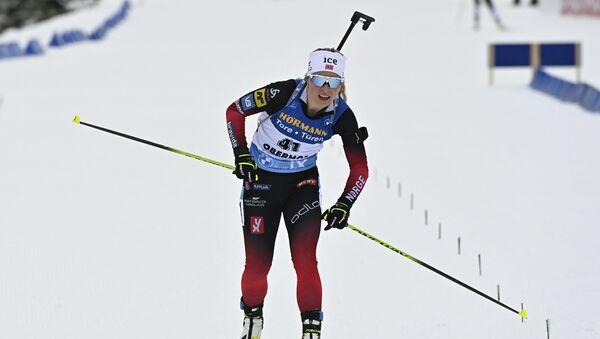 Норвежская биатлонистка Тириль Экхофф - Sputnik Беларусь