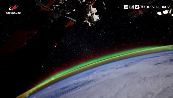 Відэафакт: касманаўт зняў паўночнае ззянне з борта МКС - Sputnik Беларусь
