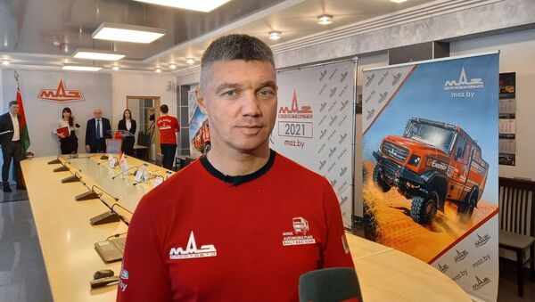 Руководитель команды МАЗ-СПОРТавто Сергей Вязович - Sputnik Беларусь