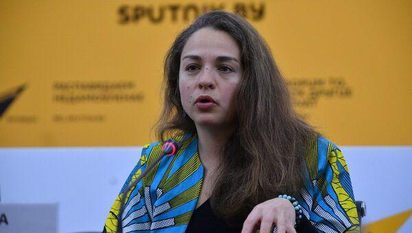 Арганізатар канцэрта Жоўтыя зоркі Ганна Лянькова - Sputnik Беларусь