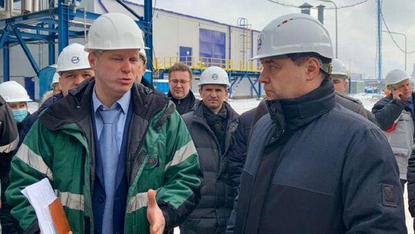 Премьер-министр Беларуси Роман Головченко на Нафтане - Sputnik Беларусь