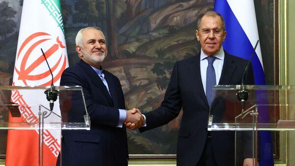 Встреча глав МИД РФ и Ирана Сергея Лаврова и Мухаммада Джавада Зарифа - Sputnik Беларусь