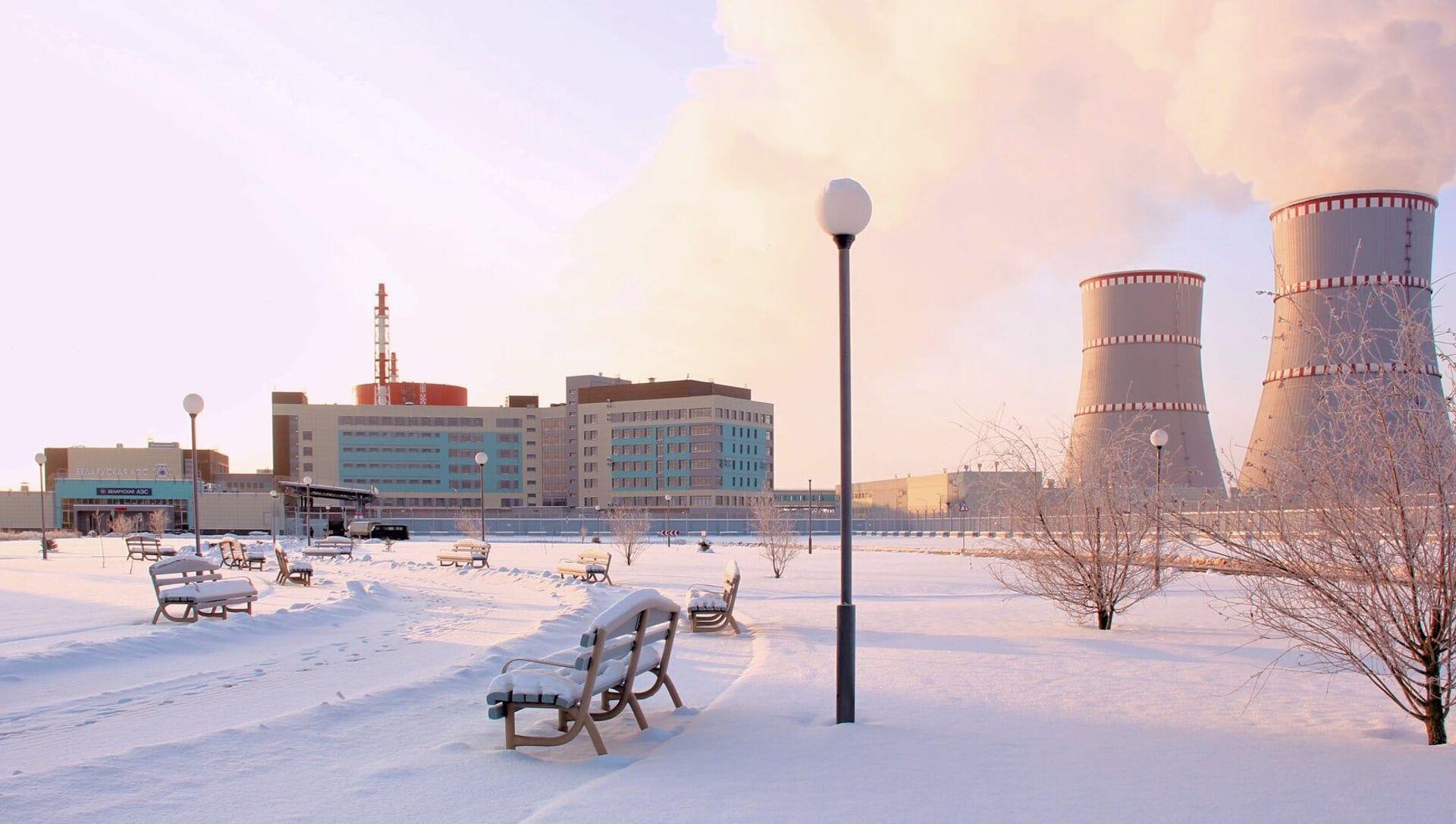 Белорусская АЭС зимой - Sputnik Беларусь, 1920, 05.02.2021