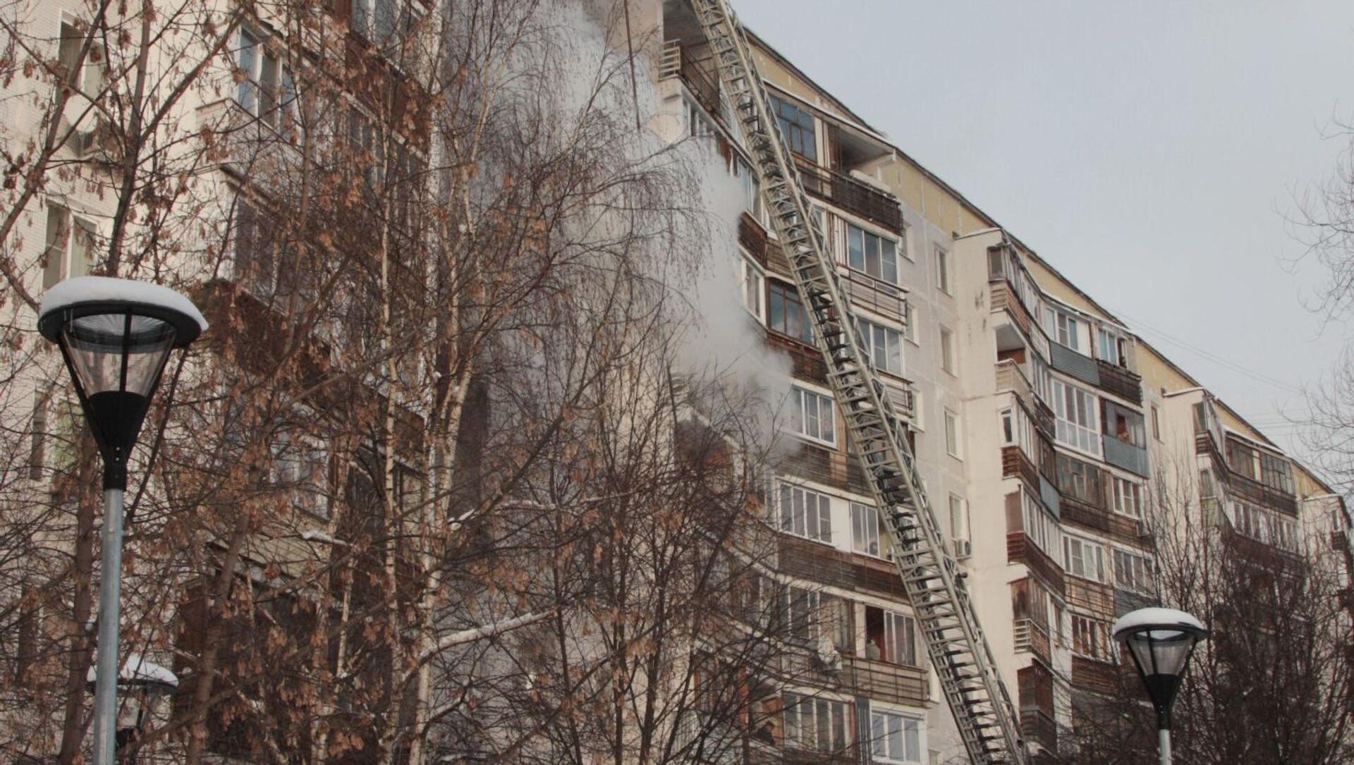 Пожар в Новой Москве - Sputnik Беларусь, 1920, 06.02.2021