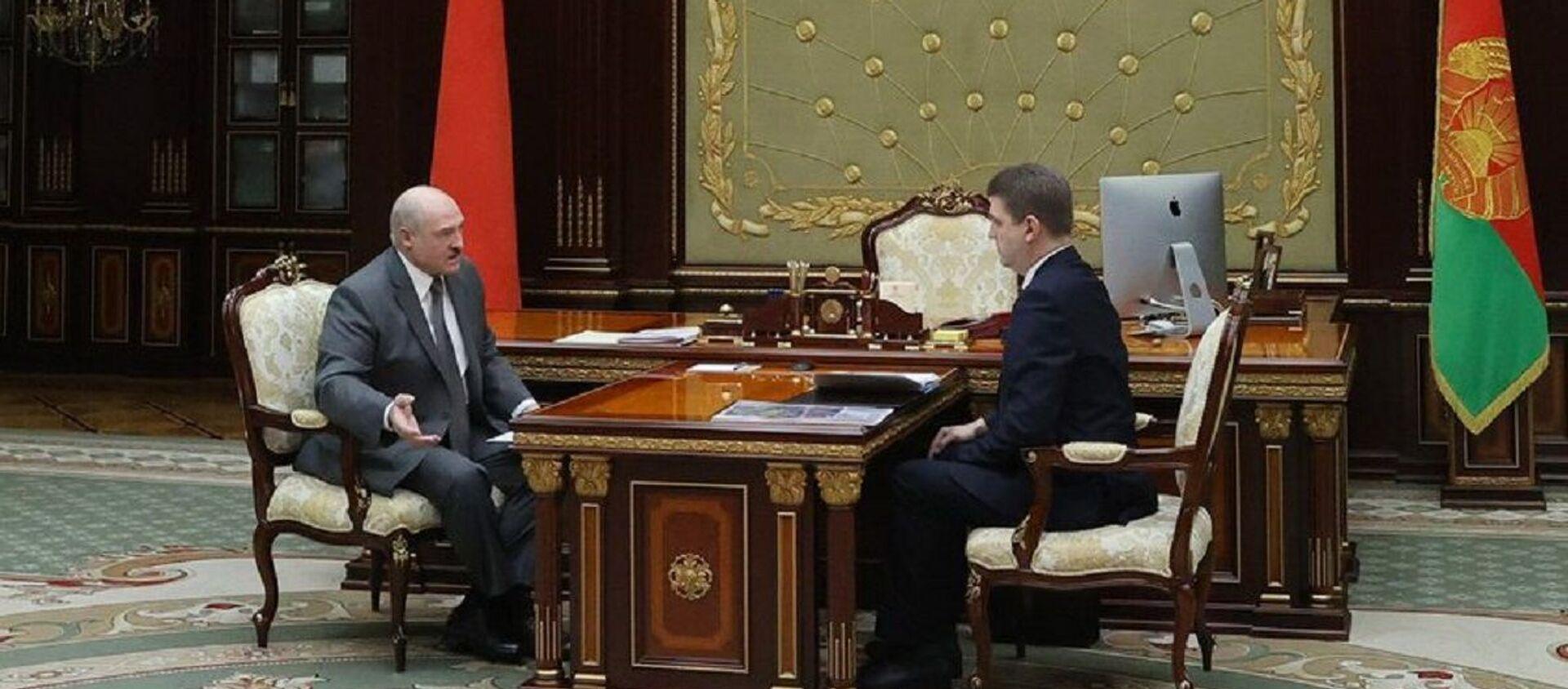 Встреча Александра Лукашенко с Владимиром Кухаревым - Sputnik Беларусь, 1920, 09.02.2021