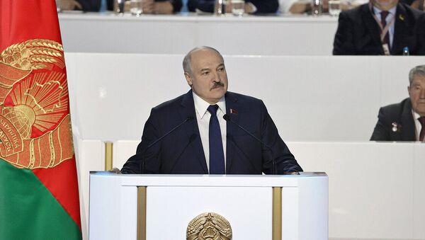 Выступленне Лукашэнкі ў пачатку УНС - Sputnik Беларусь