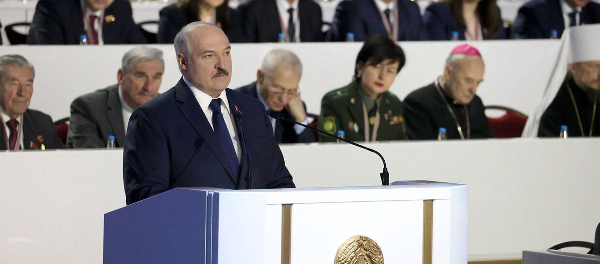 Выступление Лукашенко в начале ВНС - Sputnik Беларусь, 1920, 04.03.2021