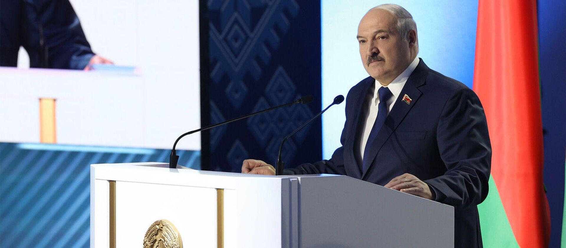 Выступление Лукашенко во время ВНС - Sputnik Беларусь, 1920, 11.02.2021