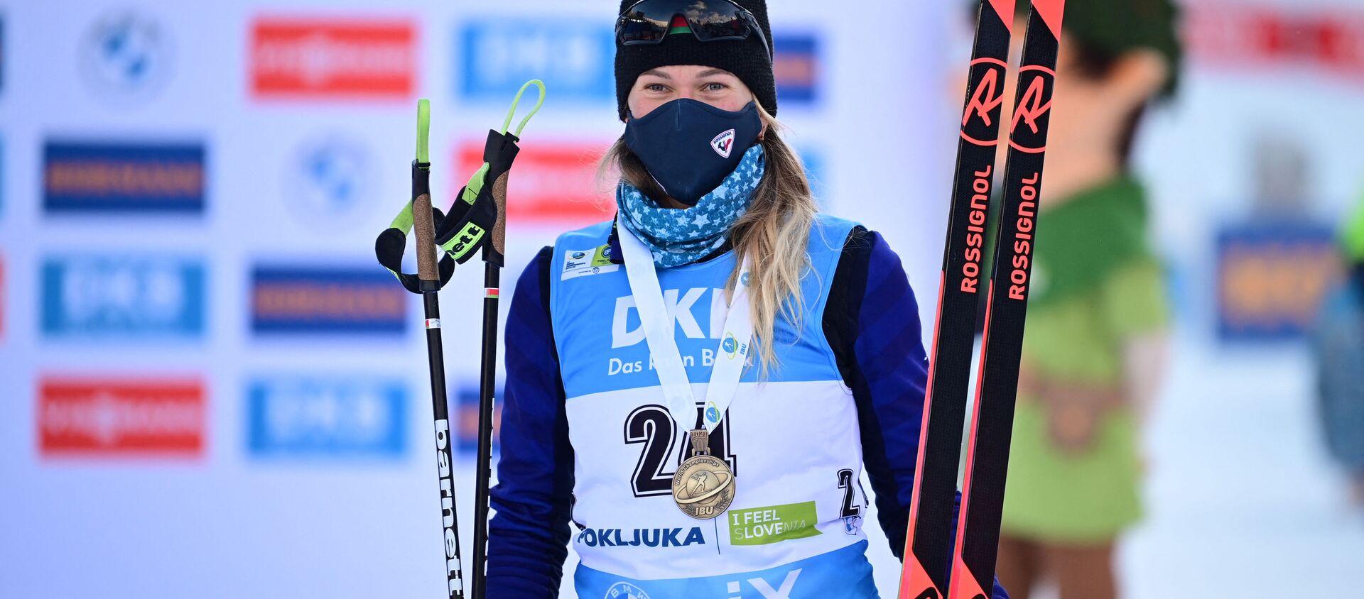 Бронзовый призер этапа ЧМ Анна Сола - Sputnik Беларусь, 1920, 14.02.2021