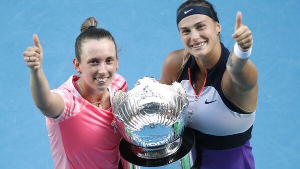Арына Сабаленка і Эліс Мертэнс выйгралі ў парным разрадзе Australian Open - Sputnik Беларусь