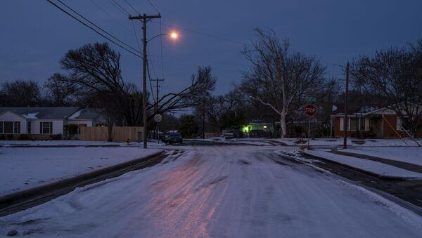Снежная буря обрушилась на американский штат Техас - Sputnik Беларусь