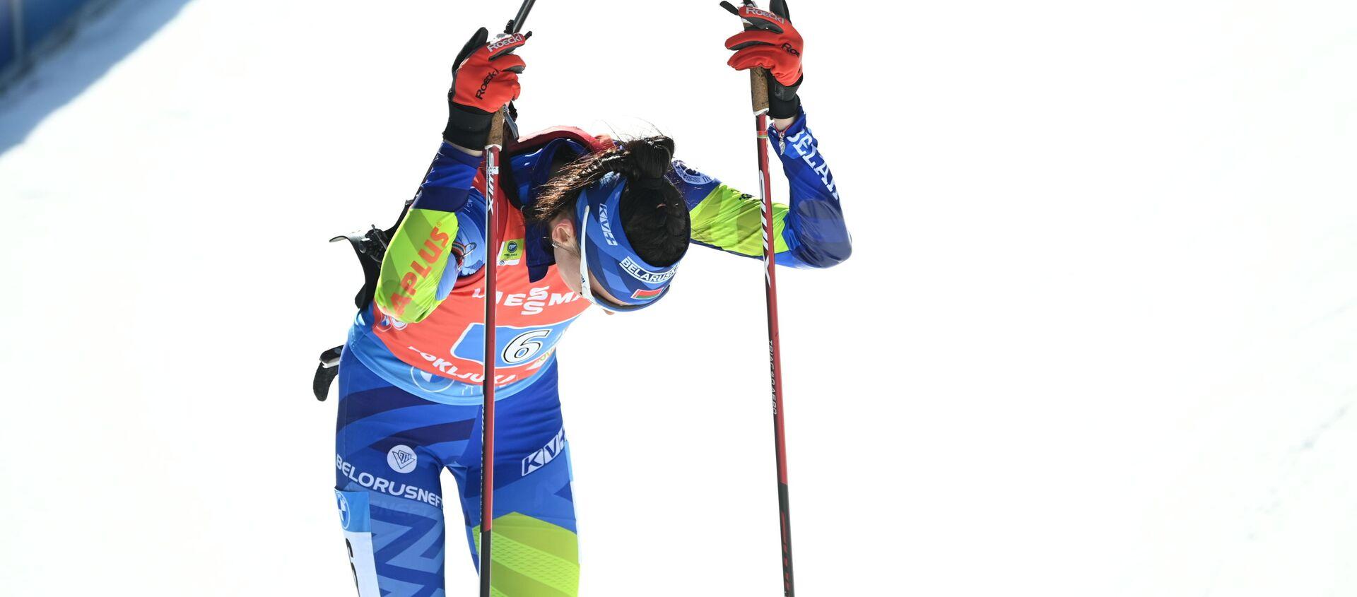 Белорусская биатлонистка Елена Кручинкина - Sputnik Беларусь, 1920, 21.02.2021