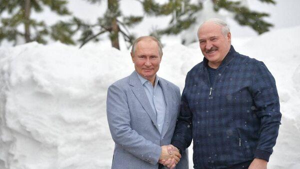 Аляксандр Лукашэнка і Уладзімір Пуцін у Сочы - Sputnik Беларусь