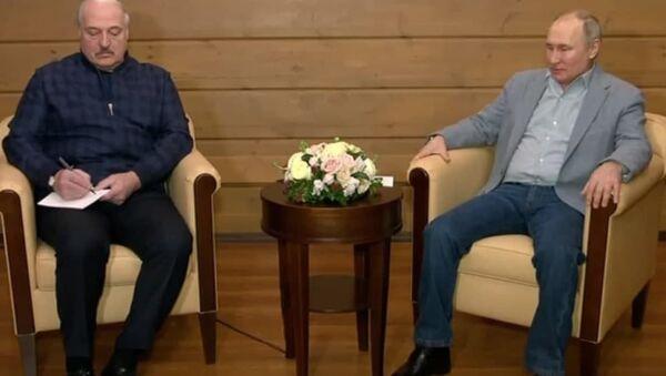 Лукашэнка і Пуцін у Сочы - відэа пратакольнай сустрэчы - Sputnik Беларусь
