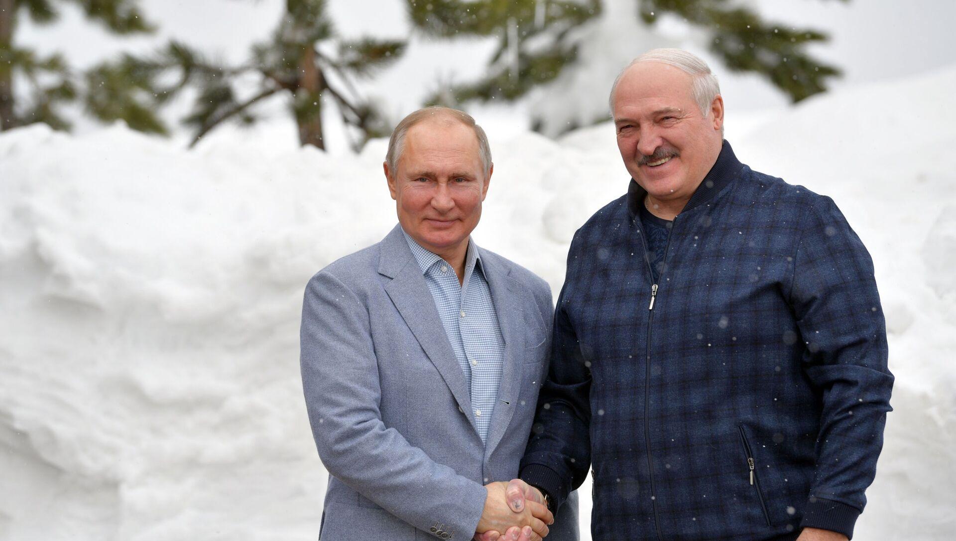 Президент РФ В. Путин встретился с президентом Беларуси А. Лукашенко - Sputnik Беларусь, 1920, 22.02.2021