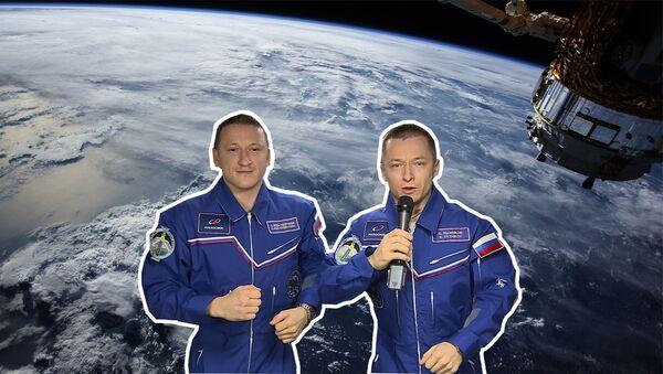 Відэа: касманаўты павіншавалі з 23 лютага расіян і ўсю планету - Sputnik Беларусь