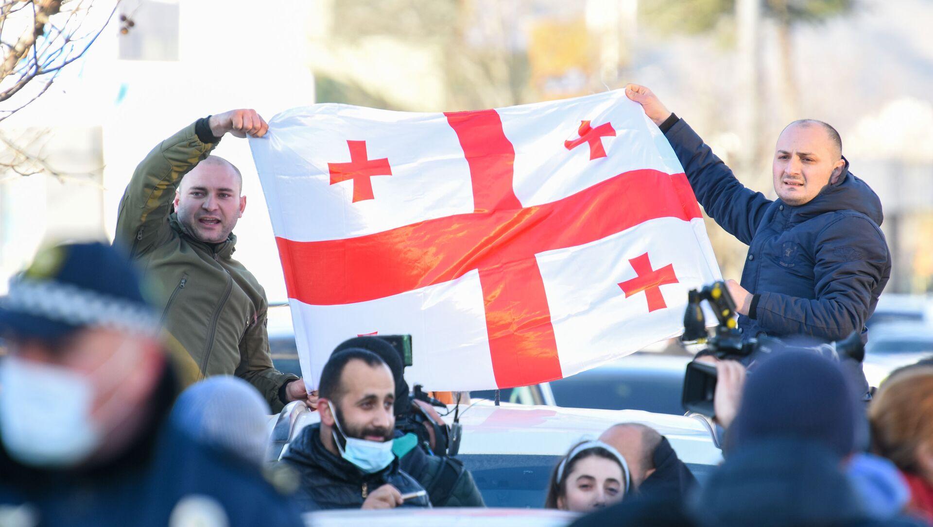 Акция протеста в Тбилиси - Sputnik Беларусь, 1920, 27.02.2021