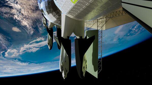Траспорт для эвакуации в космическом отеле Voyager Station - Sputnik Беларусь