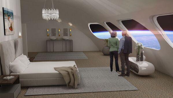 Номер Luxury Villa в космическом отеле Voyager Station  - Sputnik Беларусь