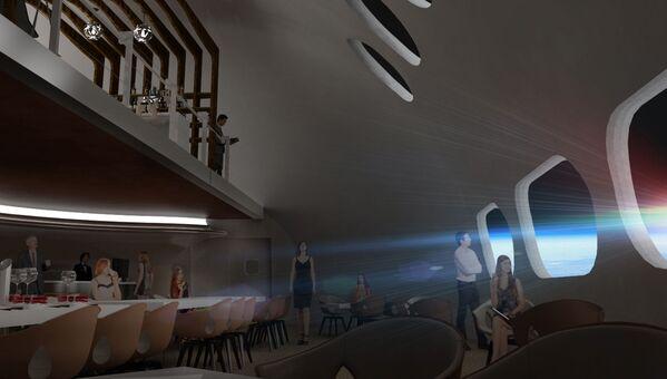 Ресторан в космическом отеле Voyager Station - Sputnik Беларусь