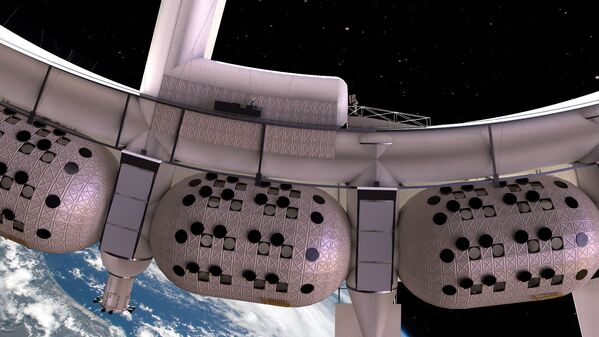 Вид на модули с номерами в космическом отеле Voyager Station - Sputnik Беларусь