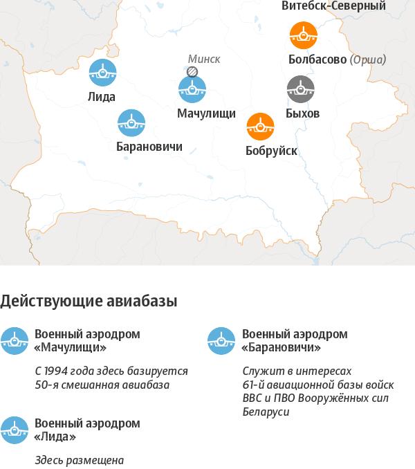 Военные аэродромы Беларуси – инфографика sputnik.by - Sputnik Беларусь