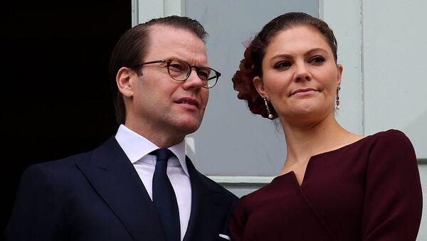 Шведская кронпринцесса Виктория и ее супруг принц Даниэль  - Sputnik Беларусь