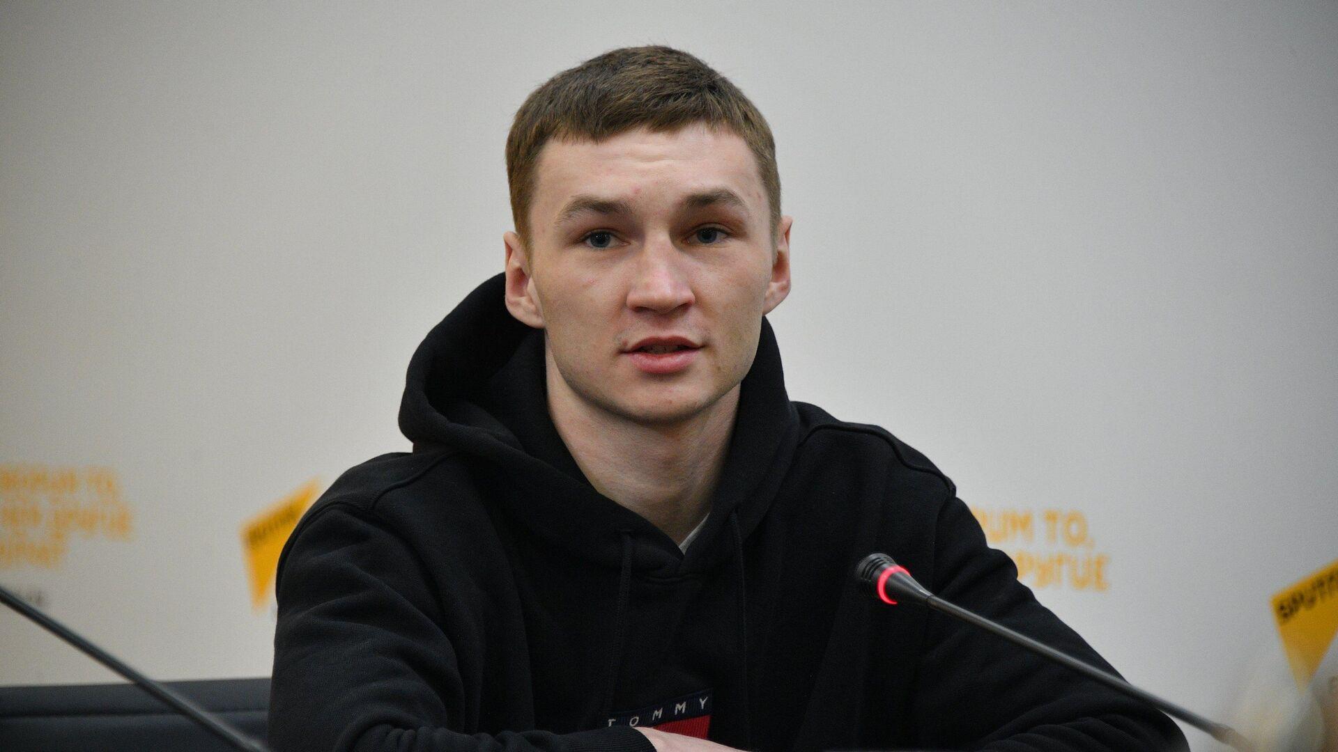 Один из лидеров национальной команды по боксу Дмитрий Асанов - Sputnik Беларусь, 1920, 21.09.2021