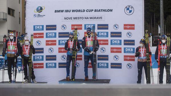 Шведы Линн Перссон и Себастьян Самуэльссон выиграли сингл-микст на этапе Кубка мира - Sputnik Беларусь