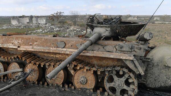 Брошенная армянская военная техника на дороге в Физули - Sputnik Беларусь
