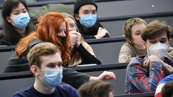 Студэнты на лекцыі, архіўнае фота - Sputnik Беларусь