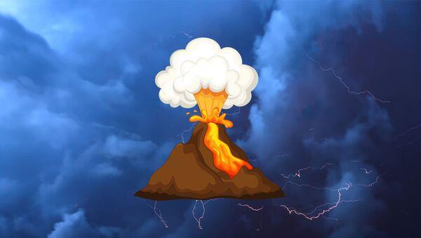 Он спал шесть тысяч лет: извержение вулкана Фаградальсфьядль - видео - Sputnik Беларусь