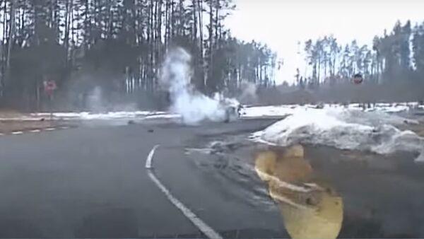 ДТП с мусоровозом в Могилевском районе - Sputnik Беларусь