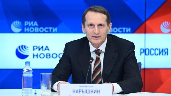 Директор Службы внешней разведки Российской Федерации Сергей Нарышкин  - Sputnik Беларусь