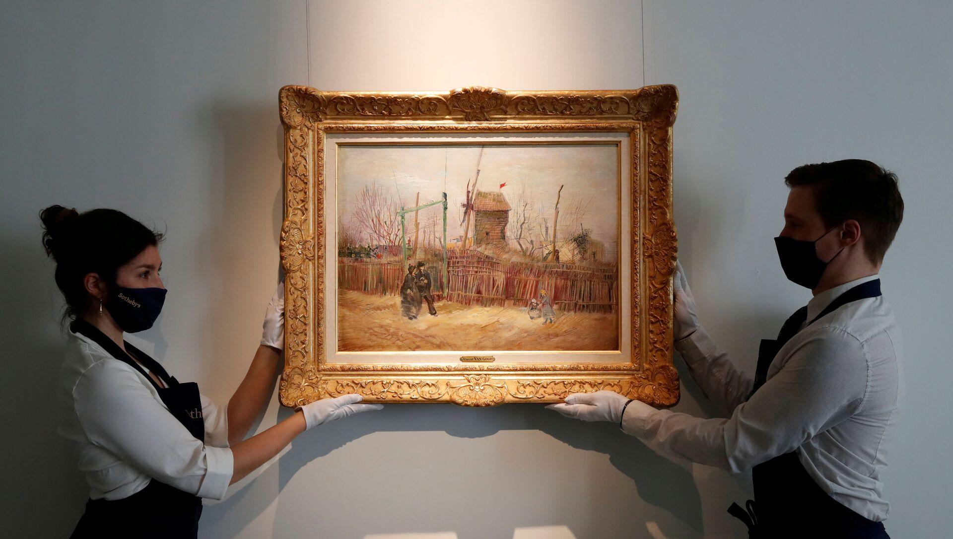 Картина известного художника Винсента Ван Гога Уличная сцена на Монмартре - Sputnik Беларусь, 1920, 25.03.2021