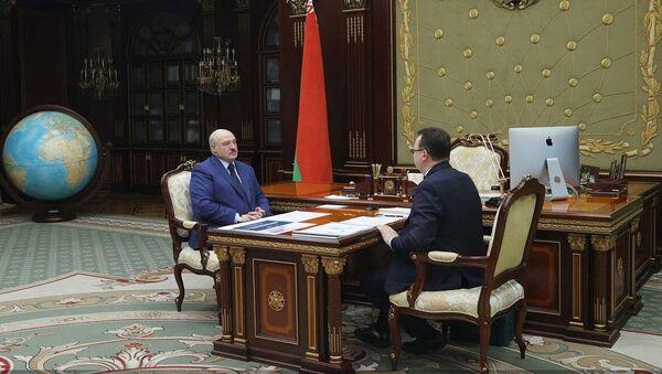Аляксандр Лукашэнка і Дзмітрый Піневіч - Sputnik Беларусь