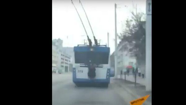 Опасные развлечения: витеблянин использовал троллейбус не по назначению - Sputnik Беларусь