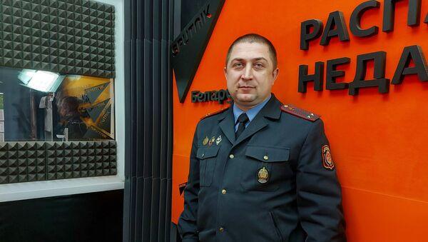 Заместитель начальника УГАИ УВД Миноблисполкома, подполковник милиции Борис Луцевич - Sputnik Беларусь