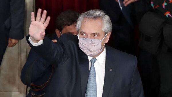 Президент Аргентины Альберто Фернандес - Sputnik Беларусь