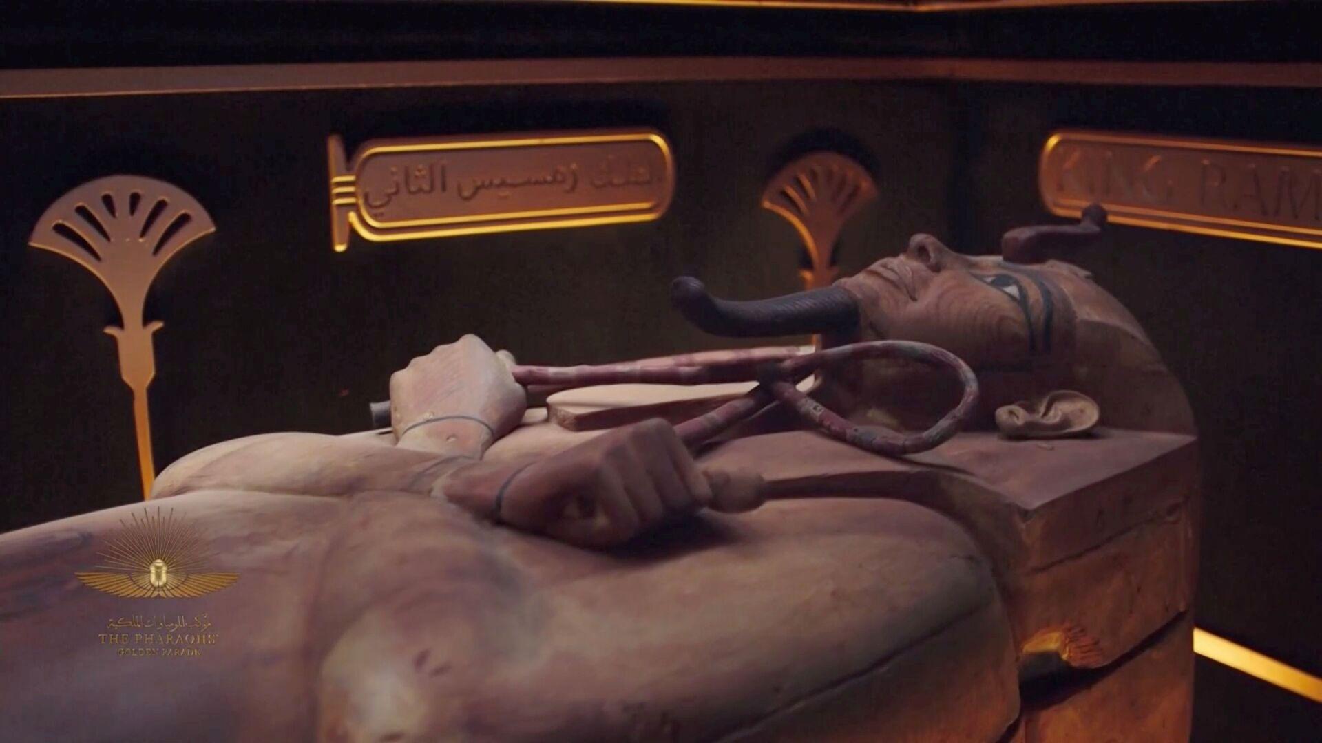 Золотой парад фараонов: в Каире из одного музея в другой перевезли 22 мумии - Sputnik Беларусь, 1920, 04.04.2021