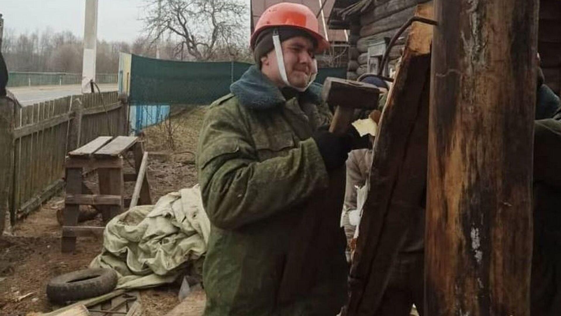 Минобороны восстанавливает дом, который повредил ракетный комплекс - Sputnik Беларусь, 1920, 08.04.2021